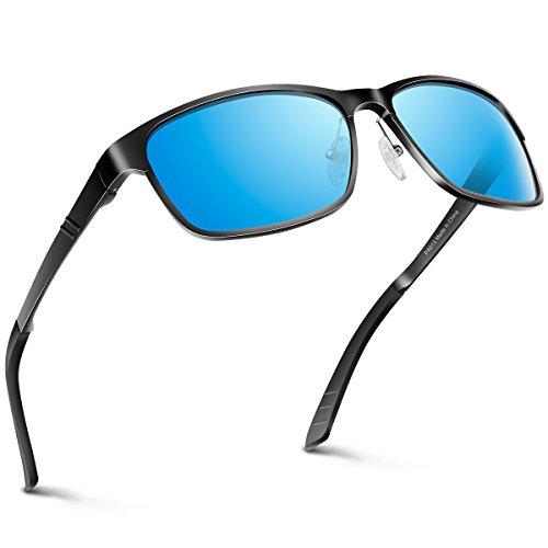 PAERDE Sonnenbrille Mann Polarisierte Linse Fahren Brille Al-Mg Metallrahmen Retro Unisex Sonnenbrille.