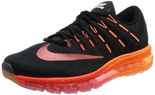 Nike Herren air max 2016 Laufschuhe, Black (schwarz/Multi-Color-Noble-Netzwerk), 44.5 EU
