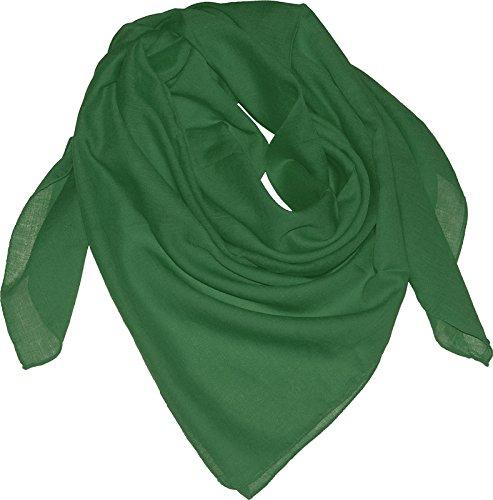 Baumwolltuch in vielen Farben 100 x 100 cm, Farben:grün, Größen:Einheitsgröße (Grün Schal)