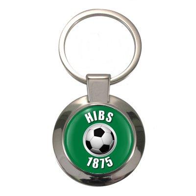 Hibs 1875 Chunky Circular Keyring