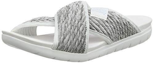 FitFlop Damen Artknit Olivia Cross Slide Sandalen, Weiß (Urban White Mix 677), 38 EU -