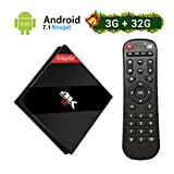 [2018 Model] EstgoSZ TV Box Android 7.1 3Go RAM + 32Go ROM 4K Ultra HD Smart TV Box avec Amlogic S912 Octa Core/Dual Band WiFi 2.4G+5.0G / Ethernet 1000M / Bluetooth 4.1 / H.265 / 3D Set Top Box