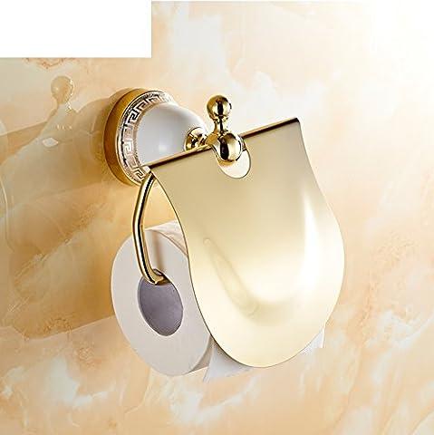 HCP Rose Gold Handtuchhalter/Continental antike blaue und weiße Porzellan-Toilette Papierkasten/Toilettenpapierhalter/Badezimmer Hardware-Zubehör-C