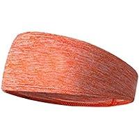Regard Unisex de poliéster Cinta elástica Transpirable Yoga sólido de Color Absorber el Sudor Deportes pañuelo Banda de Sudor