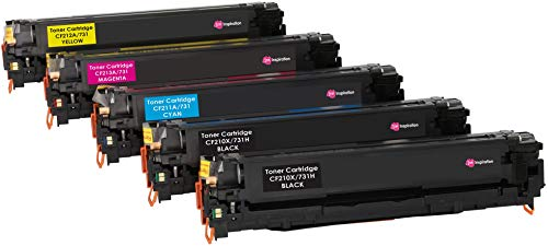 INK INSPIRATION 131X 131A CRG-731 5-er Set Toner kompatibel für HP LaserJet Pro 200 Color M251n, M251nw, MFP M276n, MFP M276nw, Canon LBP-7100CN, LBP-7110CW, MF-8230CN, MF-8280CW -