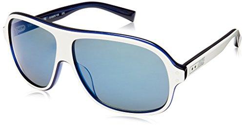 Nike Vintage MDL. 99 Sunglasses White Dark Blue Blue Flash Lens image