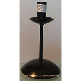 Alles vom Strauß UG (haftungsbeschränkt) Straußenei-Lampenständer - Höhe 15 cm - Metall - Schwarz