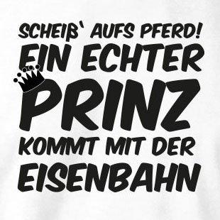 TEXLAB - Ein echter Prinz kommt mit der Eisenbahn - Langarm T-Shirt Schwarz