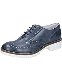 Scandi - Zapatos de cordones de Material Sintético para mujer, color azul, talla 36