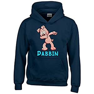 Dabbin Ferkel ! Kinder Hoodie Sweatshirt mit Kapuze Kids Gr.128-164 cm Dabbing