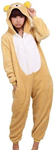 Exterieur Haut d'hiver chaude en flanelle pyjama une piece unisexe pour adulte pyjama Pikachu Kuma