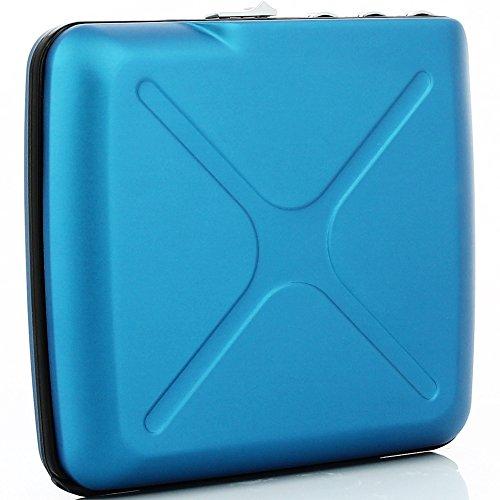 Portafoglio a codice codice Wallet alluminio anodizzato ögon CW, blu, unica