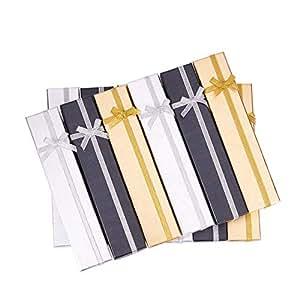 BENECREAT 12 Pack Confezione Regalo per Orologio Bracciale Confezione Regalo per Anniversario, Matrimoni, Compleanni, 3 Colori Assortiti - 200 x 40 x 22 mm