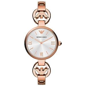 Emporio Armani AR1773 – Reloj de Cuarzo para Mujer, Correa de Acero