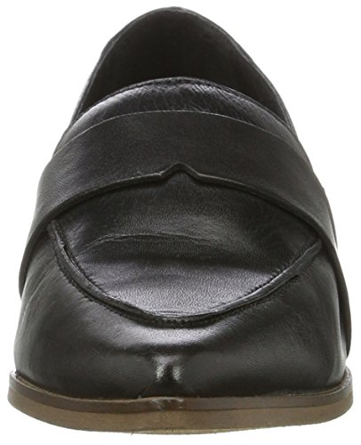 Bianco Damen Spitzer Loafer 25-49308 Slipper Schwarz (Black)