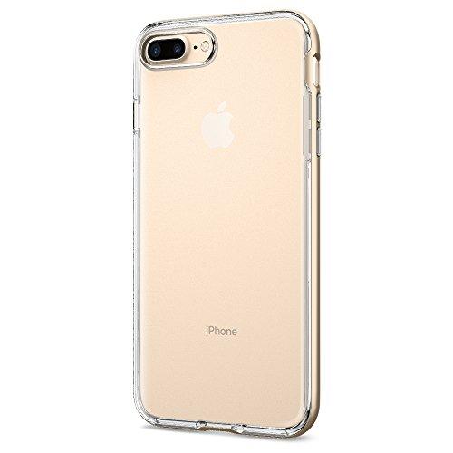 iPhone 7 PLUS Hülle, Spigen® [Neo Hybrid Crystal] Dual-Layer Schutzrahmen [Mint Grün] Metallisierte tasten / Durchsichtige TPU Schale + PC Rahmen Schutzhülle für Apple iPhone 7 PLUS Case Cover - Mint  Champagner, Transparent
