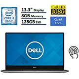 "Dell XPS 13 9360 Laptop (13.3"" Anti-Glare InfinityEdge TouchScreen FHD (1920x1080), Intel 8th Gen Quad-Core I5-8250U, 128GB M.2 SSD, 8GB RAM, Backlit Keyboard, Windows 10) - Silver"