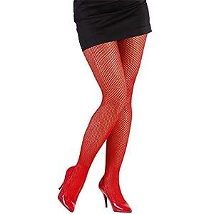 WIDMANN?Medias de Red Rojas Womens, rojo, talla única, vd-wdm4753C