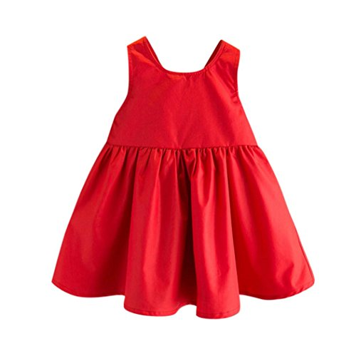 Dinglong Age 3-7 Years Old Toddler Kids Baby Girls Outfit Clothes Bowknot Pageant Party Princess Dress