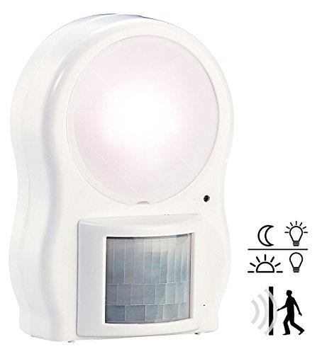 Lunartec Wandleuchte: LED-Leuchte mit Bewegungs- & Dämmerungssensor (Bewegungsmelder mit Licht)