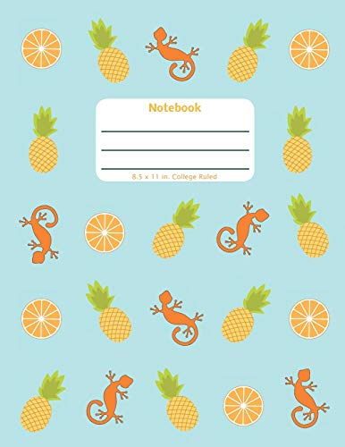 Notebook: Pineapple Orange - Large Notebook - Lined Pages in a Big Format with College Ruled Lines and a Soft Cover Paperback (Tropical Play Series, Band 1)