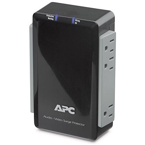 APC p4V Audio/Video 120V Überspannungsschutz 4Steckdosen mit Koax-Schutz. -