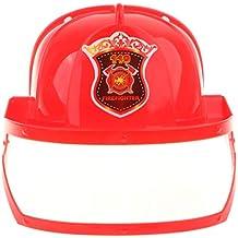 Sharplace Modello Pompiere Casco Sicurezza Cappello cap Ruolo Bambino  Plastica Rosso ce9393ccde55