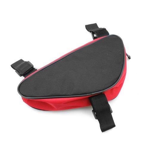 System-S Fahrrad Tasche Werkzeugtasche für Fahrradrahmen Stange Rot