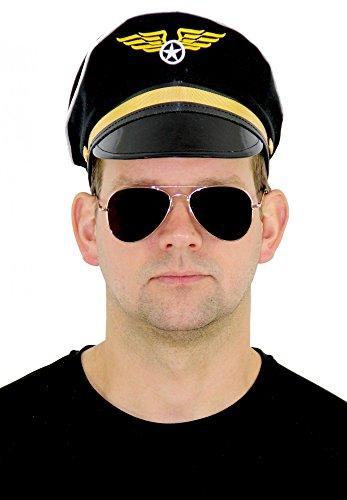 en Mütze für Erwachsene Fasching Party Uniform Flugzeug Erwachsene Pilotenmütze (Erwachsenen Flugzeug Kostüm)