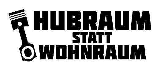 HUBRAUM statt Wohnraum // Sticker OEM JDM Style Aufkleber (weiss)