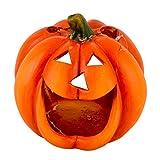 Dadeldo-Home Kürbis Deko-Objekt Herbst Halloween Keramik Orange (20x16x16cm)