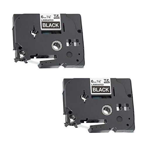 2 Kassetten TZe-315 TZ-315 weiß auf schwarz 6mm x 8m Schriftband kompatibel für Brother P-Touch PT-1000 1005 1010 3600 D200 D210 D210VP D450VP D600VP E100 E550WVP H101C H105 H110 H300 H500 P700 P750W