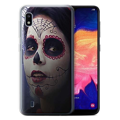 eSwish Gel TPU Hülle/Case für Samsung Galaxy A10 2019 / Halloween Bilden Muster/Tag Der Toten Festival Kollektion (Toten Der Tag Halloween-2019)
