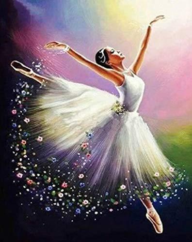 Neue 5D DIY Diamant Malerei Ballett Schönheit Tanz Malerei Stickerei Volle Runde Diamant Kreuz Stickerei Mosaik Malerei Dekoration Geschenk 45x60cm