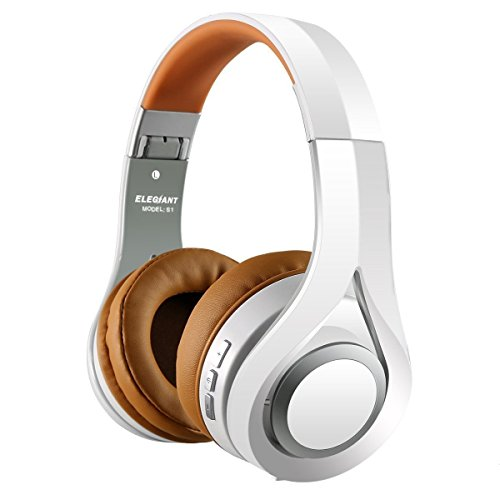 Bluetooth Kopfhörer, ELEGIANT Bluetooth 4.1 Wireless Stereo Headset drahtlose Kopfhörer Ohrhörer On Ear Kopfhörer + Mic/Freisprechfunktion + 3,5mm Audio AUX Kompatibel mit Apple Android iPhone 8 7 6s 6 plus iPad Samsung Galaxy S8 HTC LG Huawei Sony Laptops Tablets Smartphone und andere Bluetooth Geräte