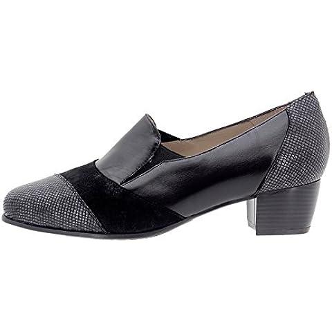 Calzado mujer confort de piel Piesanto 9103 zapato mocasín cómodo ancho