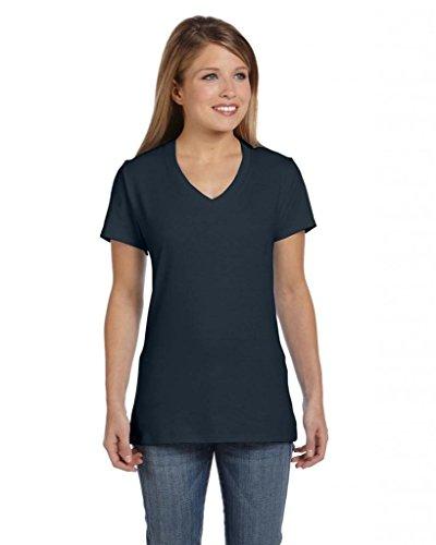 Hanes T-shirt nano-t à col en V pour homme Noir - Noir vintage