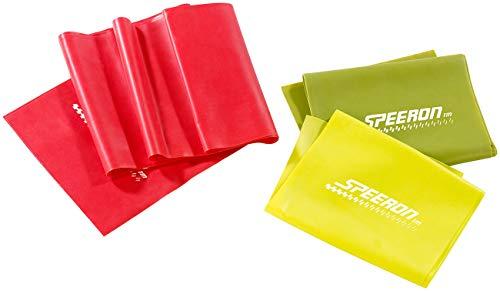 Speeron Gymnastikband: 3er-Set Widerstandsbänder aus Latex, 3 Stärken, je 1,5 m Länge (Gummiband)