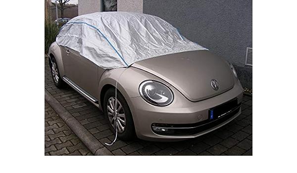Kley Partner Halbgarage Auto Plane Haube Uv Beständig Atmungsaktiv Kompatibel Mit Volkswagen Vw New Beetle Bis 2010 Autoabdeckung Wasserfest Auto