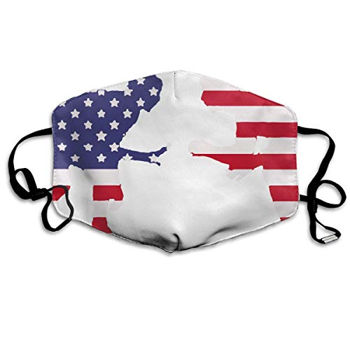 Funny&shirt Mundmaske, mit Ohrschlaufe, staubdicht, gegen Flusen, Keime, Virus, Smog, Mundmuffel mit verstellbarem Gummiband, winddicht, amerikanischer Wrestler, ()