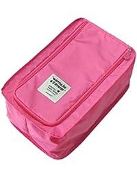 Honestystore® Shoe Pouch Travel Organizer Multi-purpose Portable Foldable Shoe Organizer Shoe Bag (Pink)