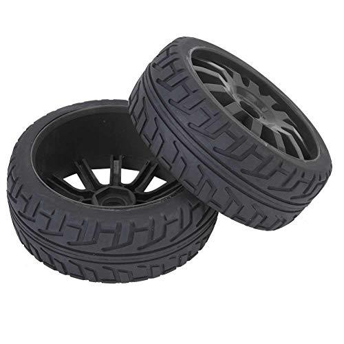 Mozzo per Pneumatici Auto RC, Mozzo per Pneumatici auto RC Ruota in Gomma Ricambio per 1/8 di Accessori per Auto da Corsa su Strada RC(nero)