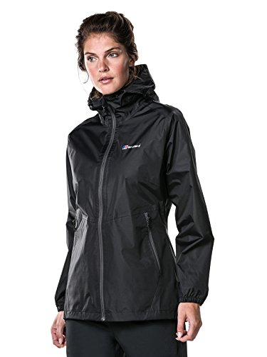 Berghaus Deluge Light Wasserdichte Damen-Jacke  schwarz ,18(XXL) - Jacke Tex Face The Gore North