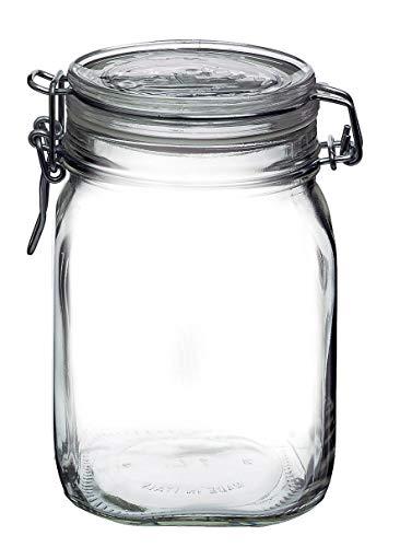 axentia Rocco Bormioli 292075 Fido Behälter Hermetischer Topf 1115 ml, Glas 1St, Transparent