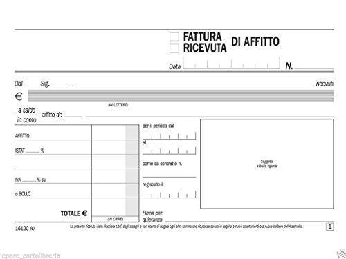 takestop® Rechnung für Mietzahlung 3er Set 100 x 170 mit Abdruck für Doppelkopie