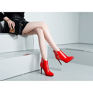 Lvyuan-ggx Womens Heels Confortable En Cuir Été Décontracté Confortable Blanc Noir Rouge 7.5 - 9.5 Cm Noir