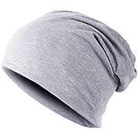 Bobury Hombres cálido Sombrero de Invierno de algodón Mezclado Gorro de  esquí Gorro Liso d69613a888d