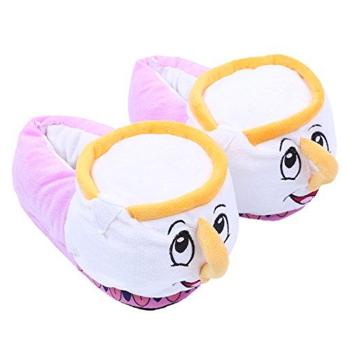 Disney Die Schöne und Das Biest Chip die Tasse Pantoffeln Plüschhausschuhe - 35-36 / UK ()