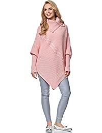 5c9cb7406a6738 Amazon.co.uk: Pink - Knitted Ponchos & Capes / Jumpers, Cardigans ...