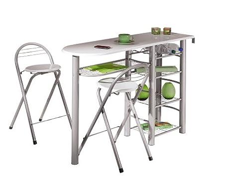 Links 50901190 Küchenbar weiß Küchentisch Küchentresen Tresen Tisch Küche Stühle